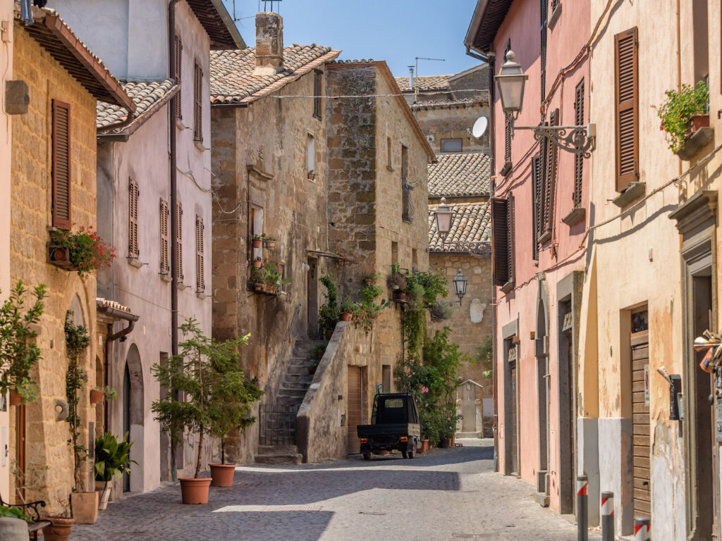 Alleyway of Orvieto, Umbria.A typical alley of Orvieto, a historic Italian village.